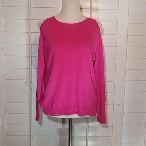 VINCE CAMUTO Cold Shoulder Long Sleeve Sweater.